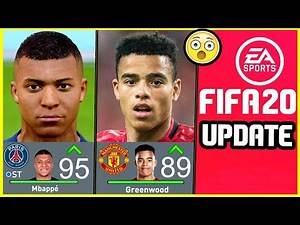 NEW FIFA 20 UPDATE - NEW PLAYER RATINGS & POTENTIALS, REMOVED PLAYERS & NEW PLAYERS ADDED