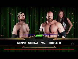 WWE 2K18 Kenny Omega VS Triple H 1 VS 1 Match