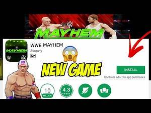 WWE Mayhem Game For Android/iOS    Latest wwe Game with High Graphics    Download Link