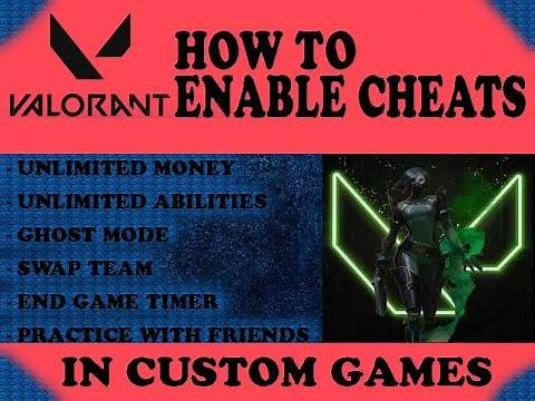 How to enable cheats in Valorant (Custom games)