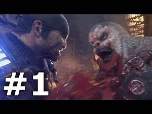 Gears of War Ultimate Edition Campaign Gameplay FULL Walkthrough Part 1 1080p (Xbox One, PC)
