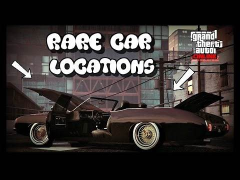 "*NEW* GTA 5 ONLINE ALL VERY RARE CAR LOCATIONS!! (RARE AND SECRET VEHICLES) 30 VEHICLES ""GTA V"""