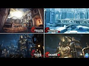 Gears of War EVERY CANALS MAP COMPARISON (Gears 1,2,4 & 5)