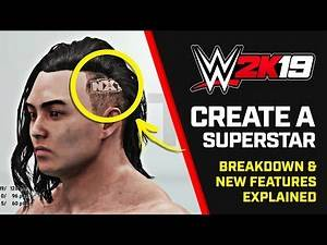 WWE 2K19 Create a Superstar - Breakdown & New Features (Early Footage)