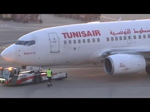 Tunis Air Boeing 737-600 scenic and smooth operation at HAM