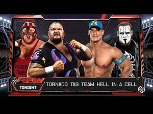 Bam Bam Bigelow & Vader Vs John Cena & Sting - Let's Play WWE 2K16