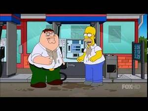 Peter Griffin and Homer Simpson looking for a car!