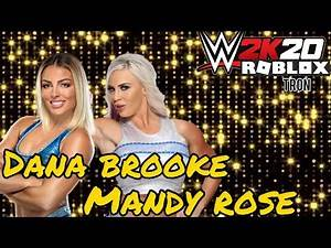 WWE2K20|Roblox|Mandy Rose And Dana Brooke Entrance|#Roblox