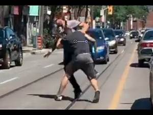 CAUGHT ON CAMERA: Road rage leads to brawl on College Street