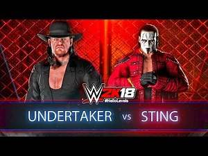 WWE 2K18 Undertaker vs Sting Hell In A Cell Match | WWE 2K18 Hell In A Cell Match Gameplay