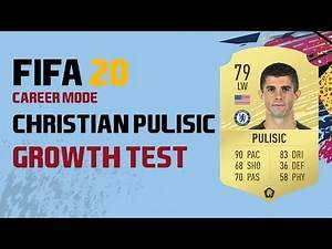 CHRISTIAN PULISIC GROWTH TEST AND GAMEPLAY | FIFA 20 | CAREER MODE