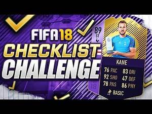 FIFA 18 CHECKLIST CHALLENGE!!! PLAYER OF THE MONTH KANE!!! POTM Harry Kane Squad Duel