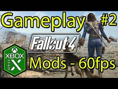 Fallout 4 Xbox Series X Gameplay Mods 60fps Hot Spring & Heist