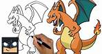 How To Draw Pokemon   Charizard    Step by Step Drawing Tutorial for Beginners