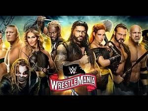 WWE Wrestlemania 36: Official Match Card (Part 1)