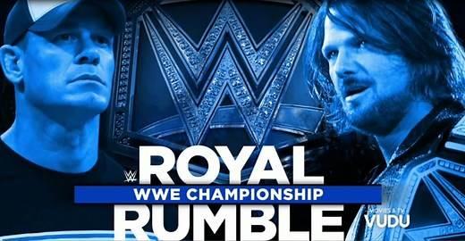 AJ Styles vs John Cena WWE Royal Rumble 2017
