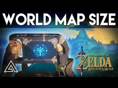 The Legend of Zelda Breath of the Wild | Map Size In Depth - Biggest Zelda Game Yet!