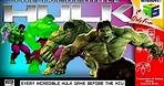THE EVOLUTION OF THE INCREDIBLE HULK in Video Games 1984 - 2008 (MCU Movie)