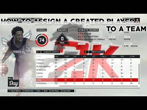 How to Assign a Created Player to a Team in NBA 2K17