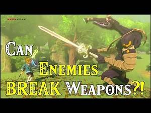 Can Enemies BREAK Weapons?! Giving DAMAGED amiibo Weapons to Moblins in Zelda Breath of the Wild DLC
