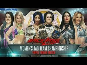 WWE Backlash 2020 Triple Treat Match Women's Tag Team Championship Match Card