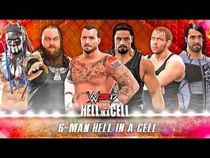 WWE 2K17 6 Man HELL IN A CELL Match   PS4 Gameplay
