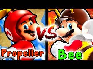 Which One Is Better The BEE Or PROPELLER MUSHROOM? - Super Mario Versus