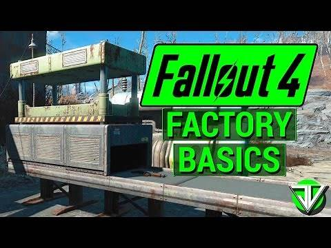 FALLOUT 4: How To Build SIMPLE FACTORY with Contraptions DLC! (Manufacture Weapons, Armor and More!)