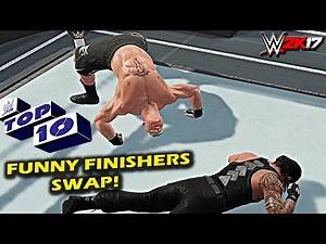 WWE 2K17 - Top 10 Finishers Swapping! Lesnar, Styles, Cena, Reigns & More (PS4 & XBOX ONE)