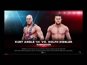 WWE 2K19 Kurt Angle VS Dolph Ziggler 1 VS 1 Submission Match