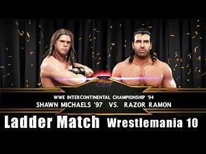 WWE 2K19 - Shawn Michaels vs Razor Ramon - Ladder Match - WWF Wrestlemania 10