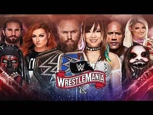 WWE WRESTLEMANIA 36   DREAM MATCH CARD