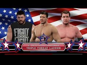 WWE 2K17 Eddie Guerrero VS JBL VS Kevin Owens Triple Threat Ladder Match United States Title