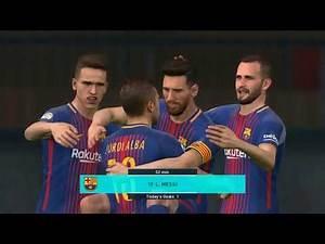 PES 2018 PS3 - BARCELONA vs REAL MADRID - CPU VS CPU - Football game