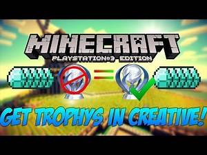 Minecraft PS4 Get Platinum TROPHY for mincraft EASY GLITCH!