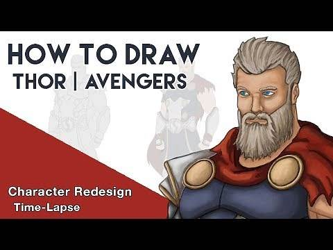 How To Draw A Marvel Character | Thor Ragnarok (Concept Art) | (Character Redesign)