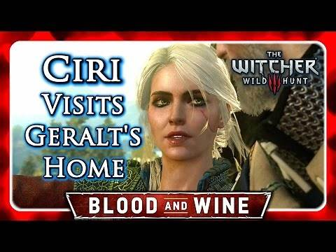 Witcher 3 🌟 BLOOD AND WINE 🌟 Witcher Ciri Visits Geralt's Home (No Romance)