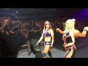 Dana Brooke and Emma entrance - WWE Live Mexico City 2016