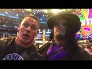"John Cena finds ""The Undertaker"" 😂😂😂"
