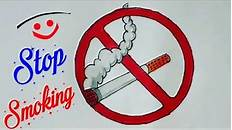 How To Draw Stop Drug Abuse Easy Drawing Step By Step Stop Smoking Drawing Ideas