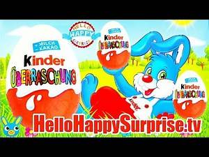 29 Kinder Surprise EASTER EGGS Unwrapping Minions Hello Kitty Toy Opening