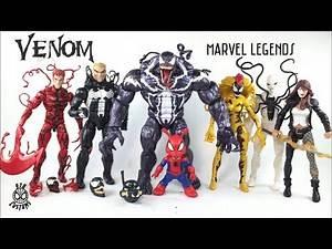 VENOM WAVE Marvel Legends Monster BAF Venom Scream Poison Spider Ham Carnage Action Figure Review