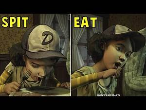 Let Clem Eats Human Meat vs Asks Her to Stop -All Choices- The Walking Dead