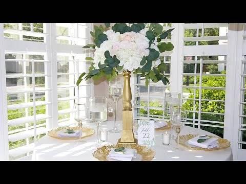 DIY Elegant ShabbyChic Garden Wedding Centerpiece
