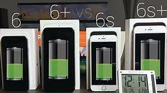 Battery Life: iPhone 6s vs iPhone 6s Plus vs iPhone 6 & 6 Plus