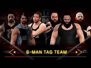 WWE2K17 The shield vs the Wyatt family