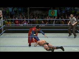 WWE SmackDown vs Raw 2010 'Superman vs Randy Orton' TRUE-HD QUALITY