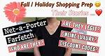 FARFETCH, NET-A-PORTER || DISCOUNT CODES? || ARE THEY LEGIT? || ONLINE SHOPPING || FALL PREP