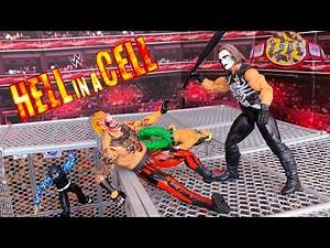 THE FIEND BRAY WYATT VS STING HELL IN A CELL ACTION FIGURE MATCH! HARDCORE CHAMPIONSHIP!