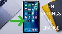 10 iPhone Settings Everyone Should Change (iOS 12/iOS 13)